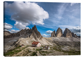 Canvas print  Tre Cime Dolomite Alps South Tyrol - Achim Thomae
