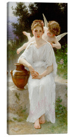Canvas print  Whisperings of Love - William Adolphe Bouguereau