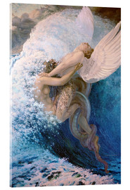 Acrylic print  Spleen and Ideal - Carlos Schwabe