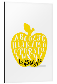 Aluminium print  ABC apple yellow - Ohkimiko