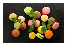 Premium poster Colorful macarons
