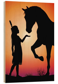 Wood print  Horse whisperer - Kidz Collection