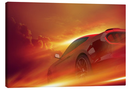 Canvas print  Glowing tires