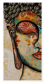 Premium poster  Buddha -Be happy - Christine Ganz