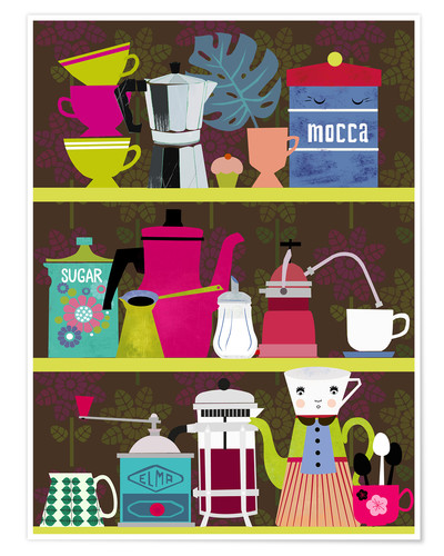 Premium poster Shelf of a coffee lover