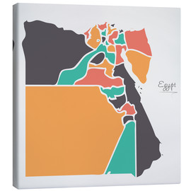 Canvas print  Egypt map modern abstract with round shapes - Ingo Menhard