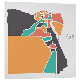 Foam board print  Egypt map modern abstract with round shapes - Ingo Menhard