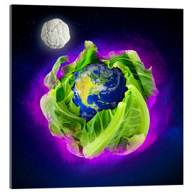 Acrylic print  Leaf The World Alone - Stoddartist