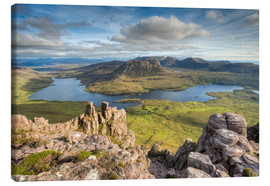Canvas print  View from Stac Pollaidh in Scotland - Michael Valjak