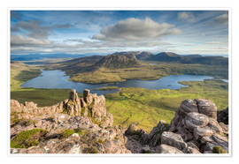 Premium poster  View from Stac Pollaidh in Scotland - Michael Valjak