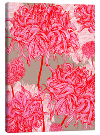 Canvas  Pretty in pink chrysanthemum - Ella Tjader