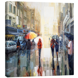 Canvas  Brick lane in the rain - Johnny Morant