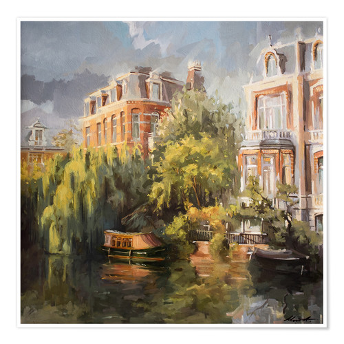 Premium poster Home on the canal