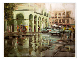 Premium poster  Havana in the rain - Johnny Morant
