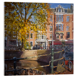 Acrylic print  Canal with bicycles - Johnny Morant