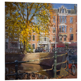 Foam board print  Canal with bicycles - Johnny Morant