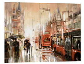 Acrylic glass  Oxford Street in the rain - Johnny Morant