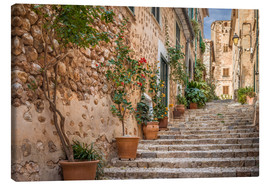 Canvas  Fornalutx - Most beautiful village in Majorca - Christian Müringer