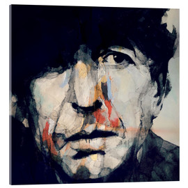 Acrylic print  Leonard Cohen - Paul Lovering Arts