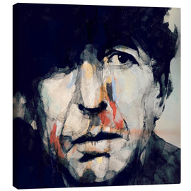 Canvas print  Leonard Cohen - Paul Lovering Arts
