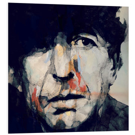 Foam board print  Leonard Cohen - Paul Lovering