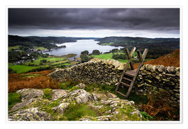 Premium poster Lake District View