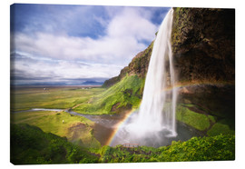 Canvas  Waterfall with rainbow - Dennis Fischer