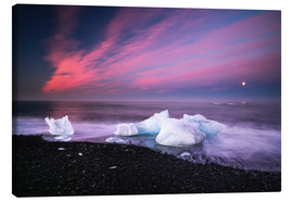 Canvas print  Icebergs on the beach in Iceland - Dennis Fischer
