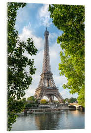 Acrylic print  Eiffel Tower on the Seine River, Paris, France - Jan Christopher Becke