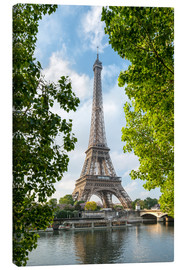 Canvas  Eiffel Tower on the Seine River, Paris, France - Jan Christopher Becke