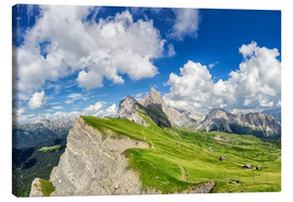 Canvas print  Alps panorama on Seceda with Mount Geisler - Dieter Meyrl