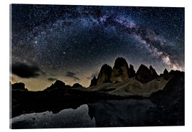 Acrylic print  Milky way over Tre cime - Dolomites - Dieter Meyrl