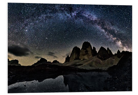 Foam board print  Milky way over Tre cime - Dolomites - Dieter Meyrl