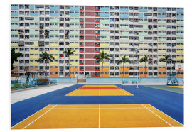 Foam board print  Living in a rainbow, Hong Kong - Dennis Fischer