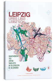 Canvas print  Leipzig map city motive - campus graphics
