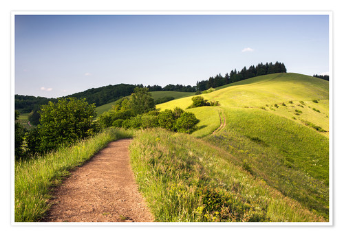 Premium poster Summer landscape in the Kaiserstuhl