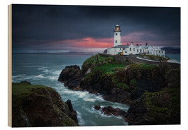 Wood print  Lighthouse Fanad Head, Ireland - Dennis Fischer