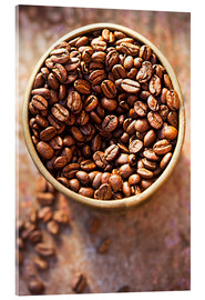 Acrylic print  Coffee grains - K&L Food Style
