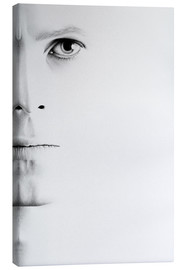 Canvas print  David Bowie minimal portrait - Ileana Hunter