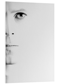 Foam board print  David Bowie minimal portrait - Ileana Hunter