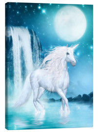 Canvas  Unicorn - Waterfalls and Moon - Dolphins DreamDesign