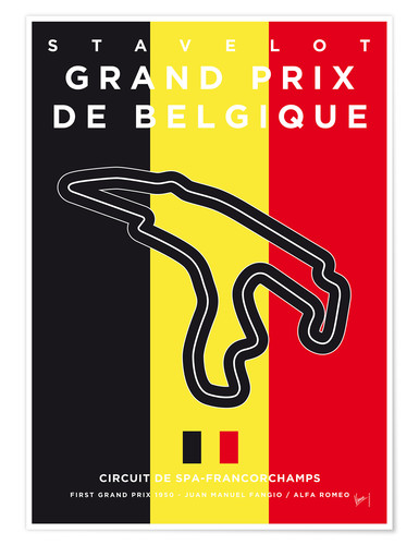 Premium poster F1 Francorchamps Race Track