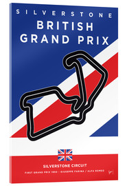 chungkong - My F1 SILVERSTONE Race Track Minimal Poster