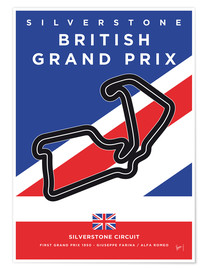 Premium poster  F1 Silverstone Race Track - chungkong