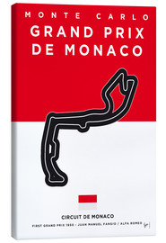 Canvas print  My F1 MONACO Race Track Minimal Poster - chungkong