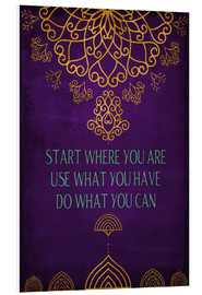 Foam board print  Do what you can - Sybille Sterk