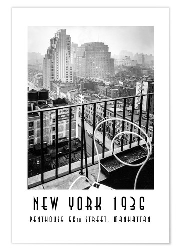 Premium poster Historic New York: Penthouse, 56th Street, Manhattan