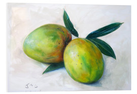 Foam board print  Two mangos - Jonathan Guy-Gladding