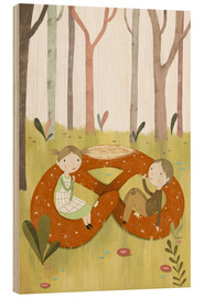 Wood print  Hansel and Gretel - Judith Loske