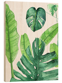 Wood  Tropical leaves - Rongrong DeVoe